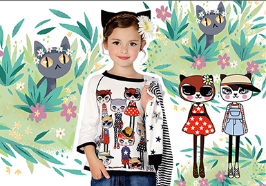 2018 S/S Pattern for Girls' Wear -- Cat Paradise