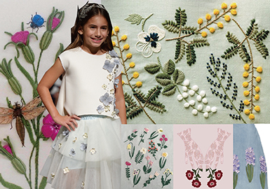 2018 S/S Pattern & Craft for Kidswear -- Flower