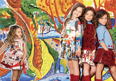 2018 S/S Pattern for Girls' Wear -- Oil Painting