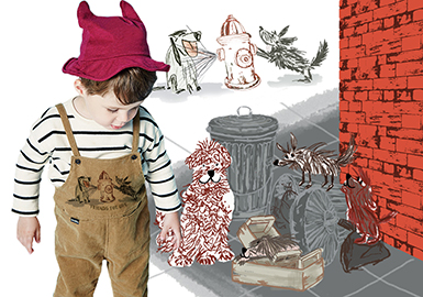 18/19 A/W Pattern for Kidswear -- Crayon Dog