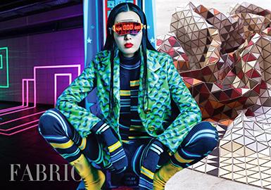 <Fabric APM01>Womenswear -- Sports Nth Power: Psychedelic Geometrics
