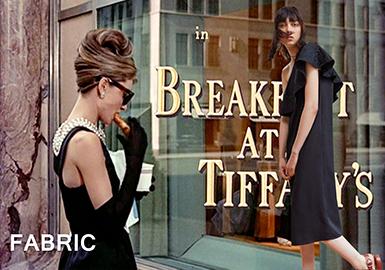 18/19 A/W Fabric for Women's Dress -- Retro Little Black Dress