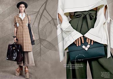 18/19 A/W Cutting Details of Womenswear -- Cutout