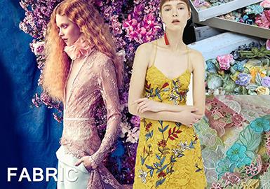 18/19 A/W Lace Fabric Trend -- Romantic Magic