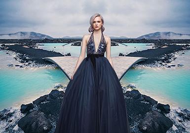 2019 S/S  Color of Women's Dress -- Blue Hues
