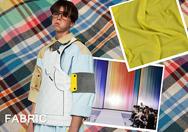 2019 S/S Color for Men's Outerwear Material -- Playful Charm