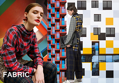 2019 S/S Color for Women's Fabric -- Unconventional Check