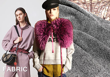 2018 Pre-Fall Knitted Fabric on Women's Catwalk -- Surface Texture
