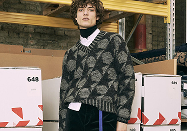 Resort 2018 Men's Sweater at Tongxiang Wholesale Market -- Patterns
