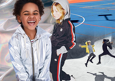 2019 S/S Athletic Glossy Material for Kidswear -- Power of Walking