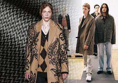 18/19 A/W Coat Fabric On Men's Catwalk -- Creative Wool