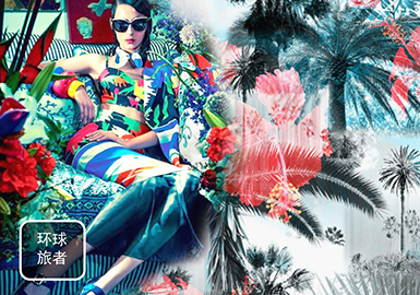 2019 S/S Digital Printing for Womenswear -- Global Traveler