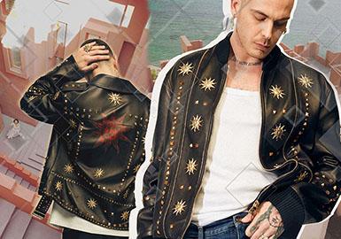 18/19 A/W Men's Fur & Leather Jacket -- Ornament & Cutting
