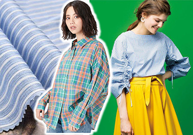 2018 S/S Women's Hot Shirting -- Stripe & Check