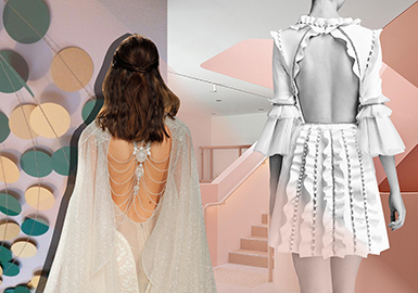 2019 S/S Craft for Women's Wedding Dress -- Back