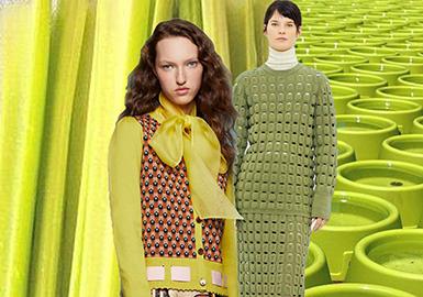 18/19 A/W Women's Knitwear Analysis -- Color
