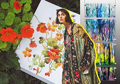 19/20 A/W Dress Fabric Trend -- Florals