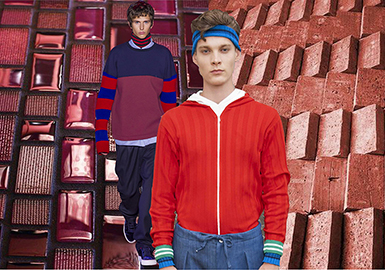 2019 S/S Men's Knitwear Color -- Red