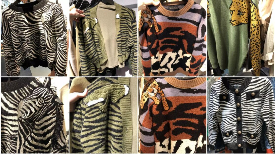 Knitwear with Animal Prints