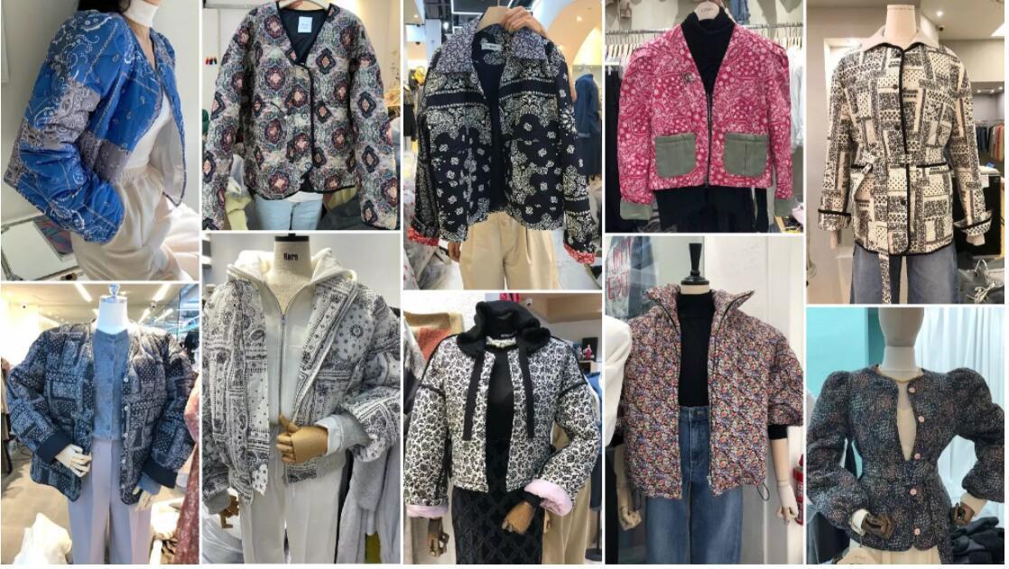 Retro Grandma Style Puffa Jackets