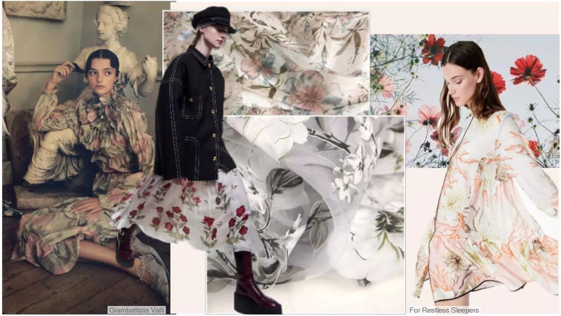 Romantic Garden Printed Fabric