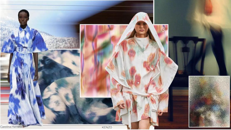 Blurred Artistic Printed Fabric