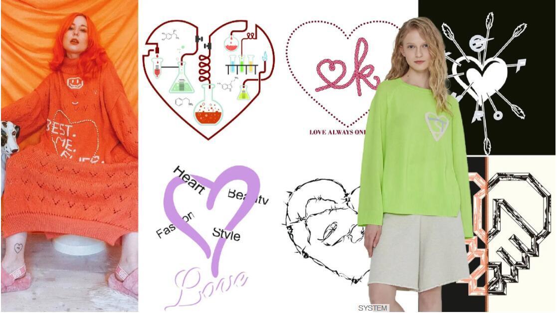Line-drawing Heart-shape