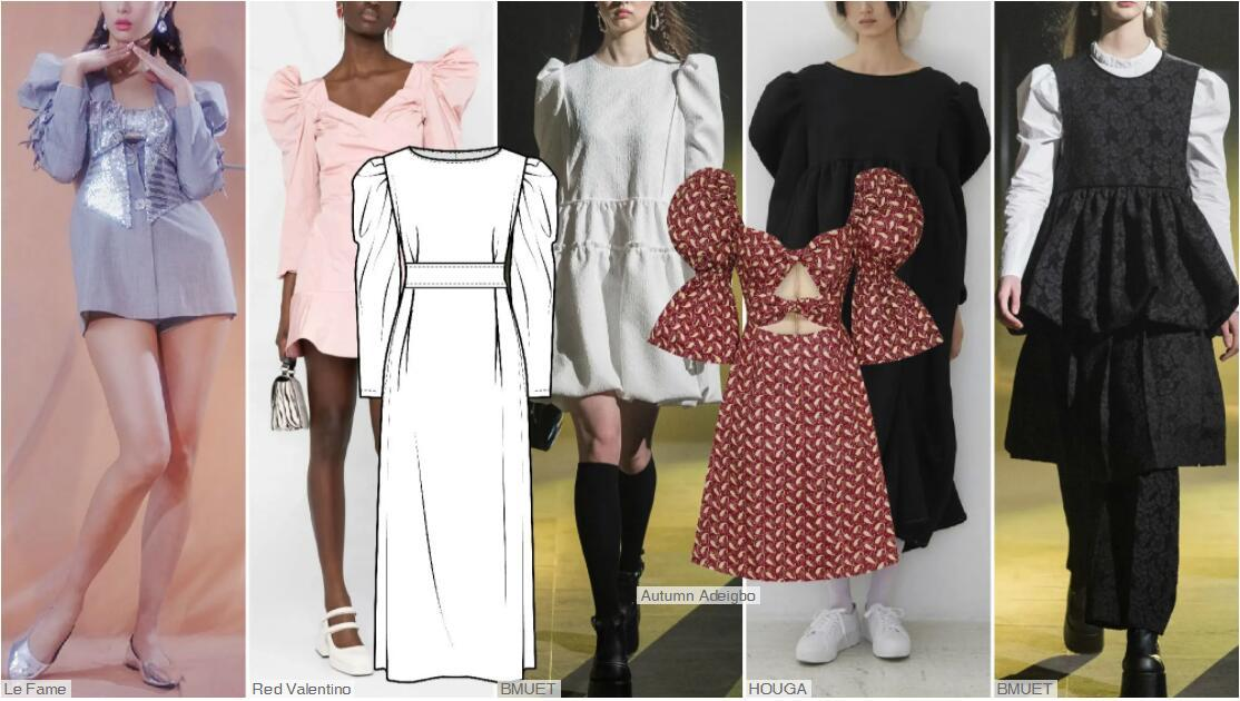Cinched Leg-of-mutton dresses