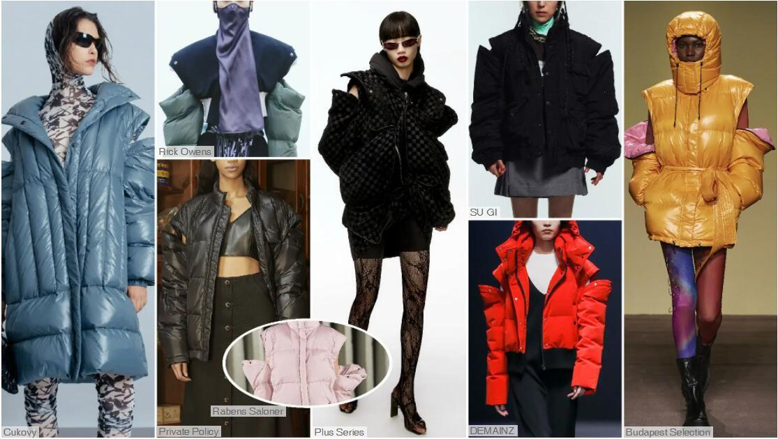 Opening on the Shoulder puffa jacket