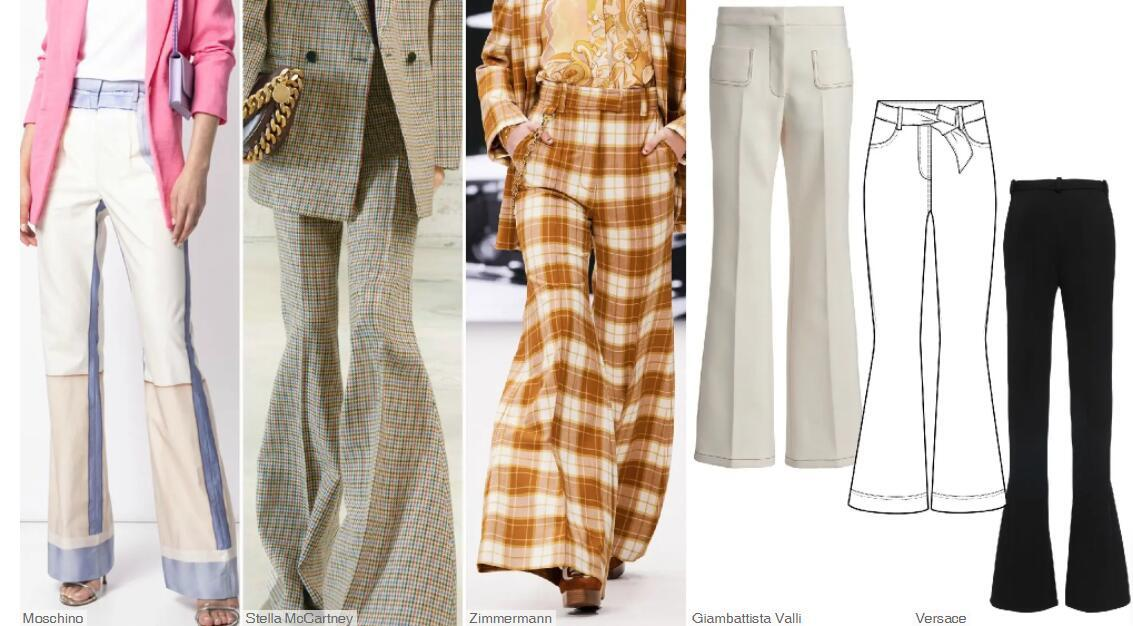 Long French Flares Trousers