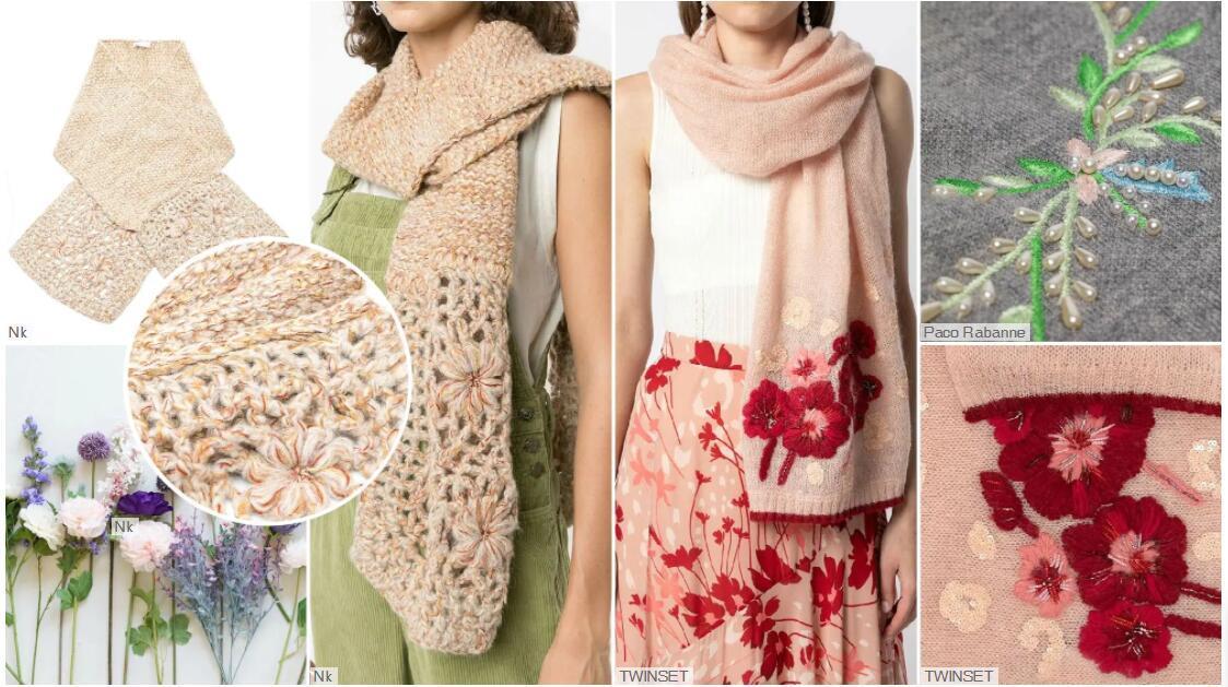 Handmade 3D Flower scarf