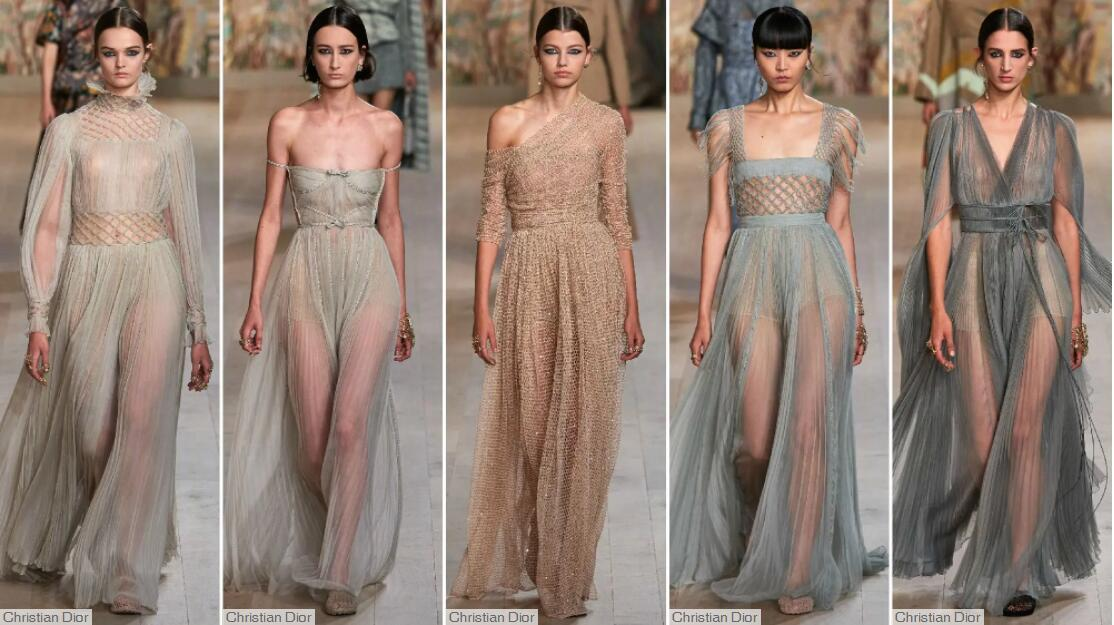 Gauze Gown Dress