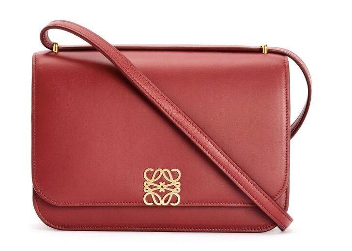 red fashion bag