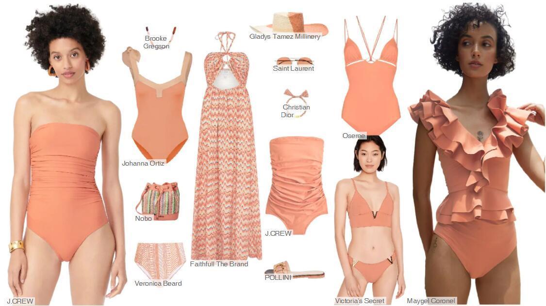 swimwear color