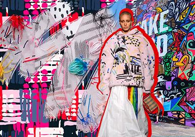 2019 S/S Pattern for Womenwear -- Recreated Graffiti