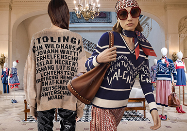 2019 S/S Women's Knitwear in Trunk Shows -- Refreshed Letters