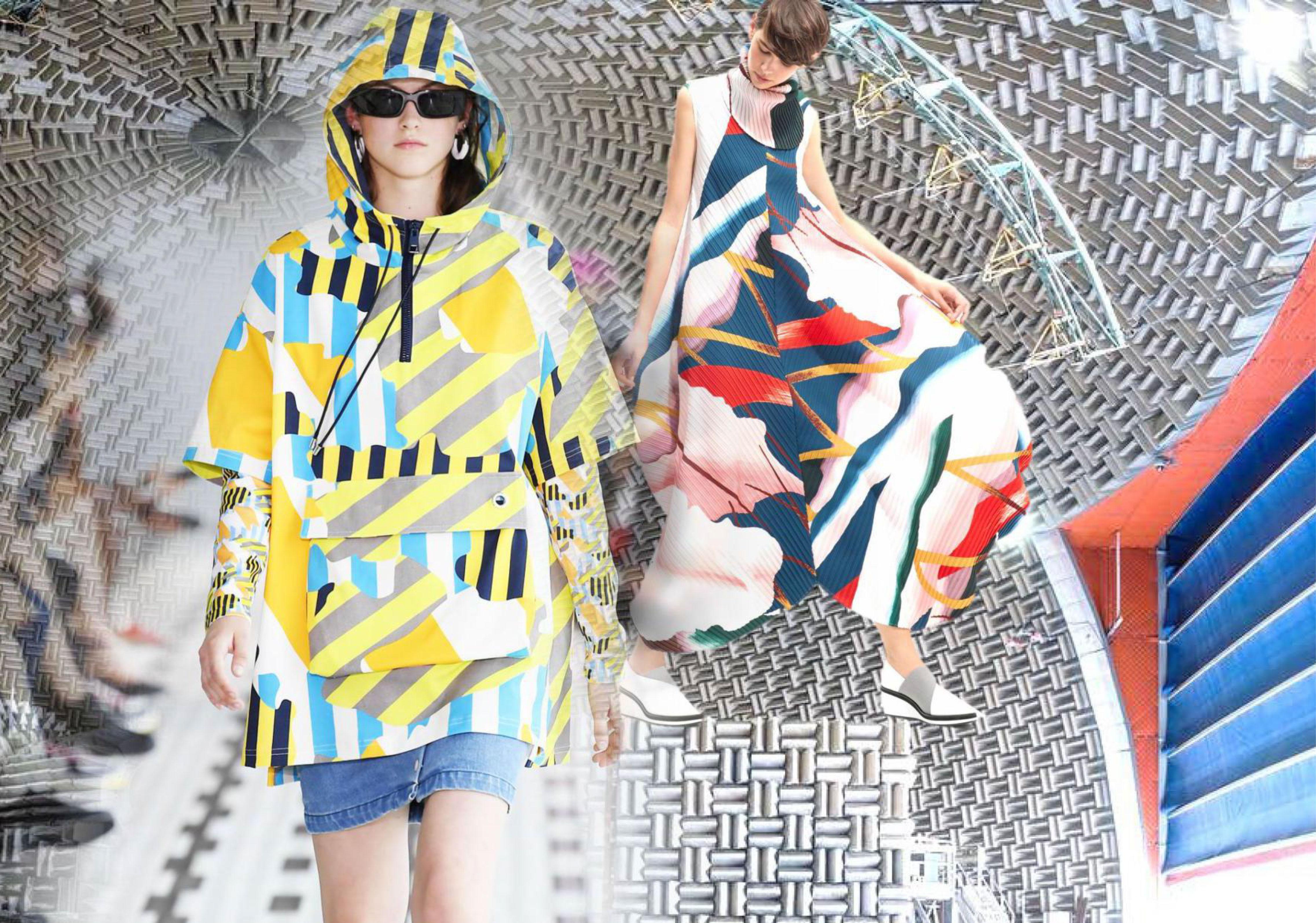 2019 S/S Fabrics for Womenswear on Catwalks -- Novel Geometries