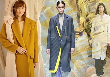 19/20 A/W Silhouette Trend for Women's Coat -- Powerful Women
