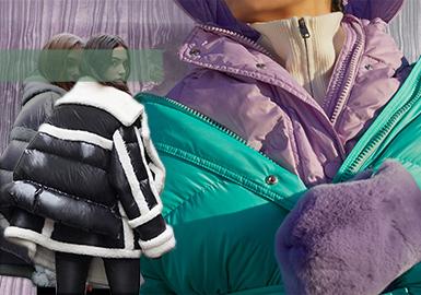 19/20 A/W Silhouette Trend for Womenswear -- Fur & Leather Puffa
