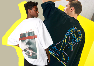 2020 S/S Menswear Silhouette -- Middle-sleeve Loose T-shirt