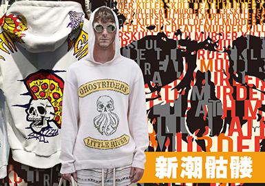 Chic Skeleton -- 2020 S/S Pattern Trend for Menswear