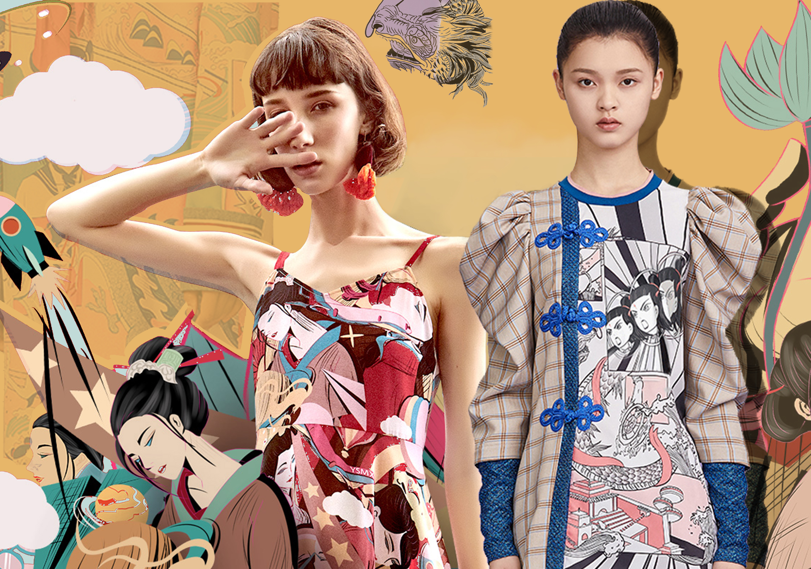 Chinese Style -- 2020 S/S Pattern Trend for Womenswear
