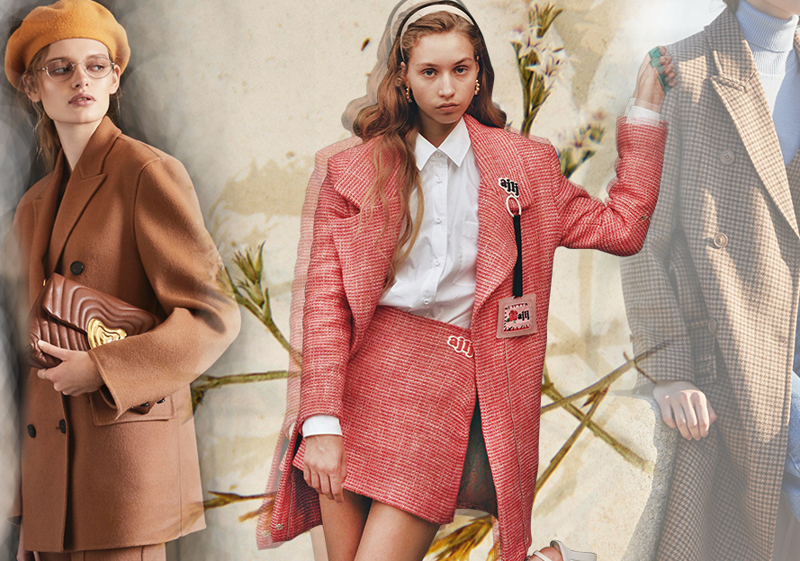 Neat Look -- 19/20 A/W Silhouette Trend for Women's Overcoat
