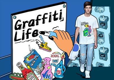 Graffiti -- 2020 S/S Pattern Trend for Menswear