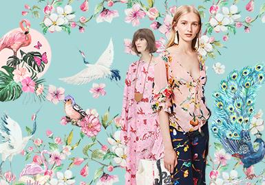 Bird & Flower -- 2020 S/S Pattern Trend for Womenswear