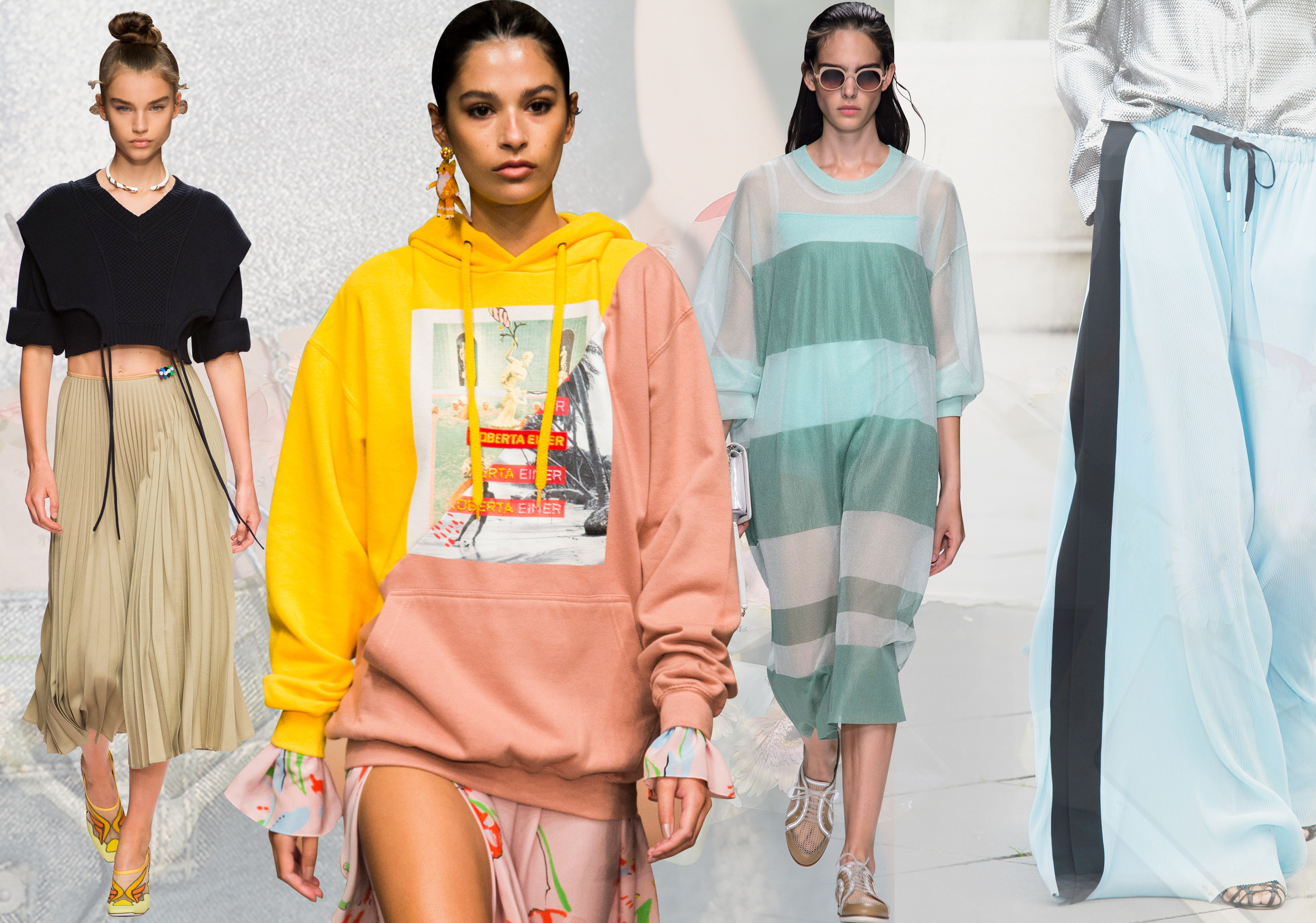 Popular Silhouettes -- 2019 S/S Womenswear on Catwalks