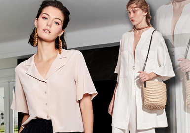 Modern Look -- 2020 S/S Silhouette Trend for Women's Shirt