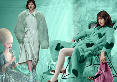 Fiesta Green -- 19/20 A/W Color Trend for Womenswear