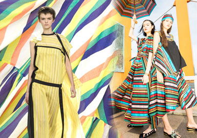 Colorful Stripes -- 2020 S/S Fabric Trend for Womenswear
