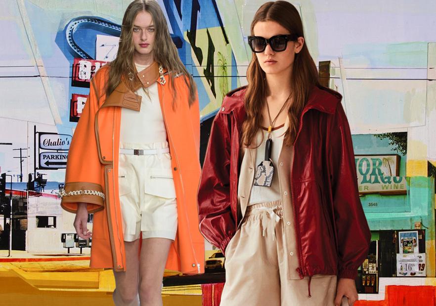 Utility Color -- 2019 S/S Women's Leather & Fur Apparel on Catwalk